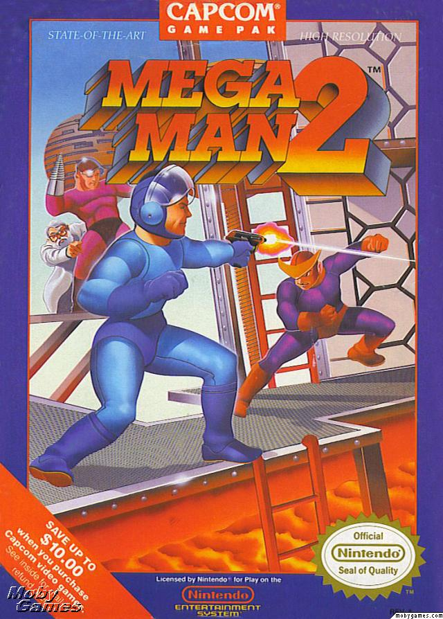Megaman 2 front box cover