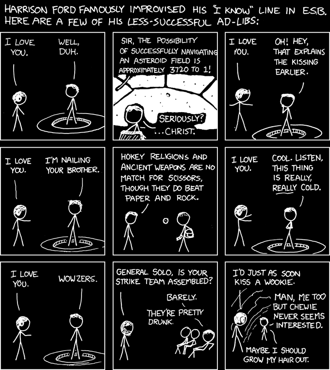 Improvised from xkcd