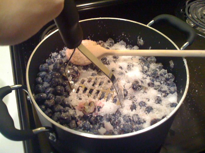 My blueberries jam and Grand-Marnier receipe