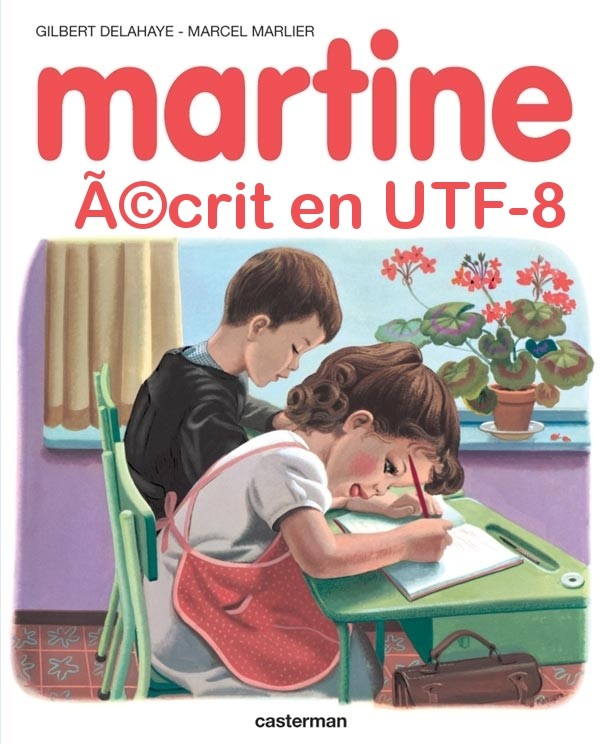 Martine crit en UTF-8
