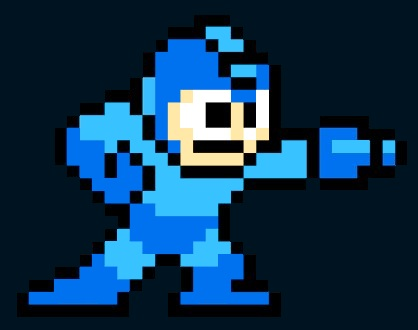 Megaman, dark background
